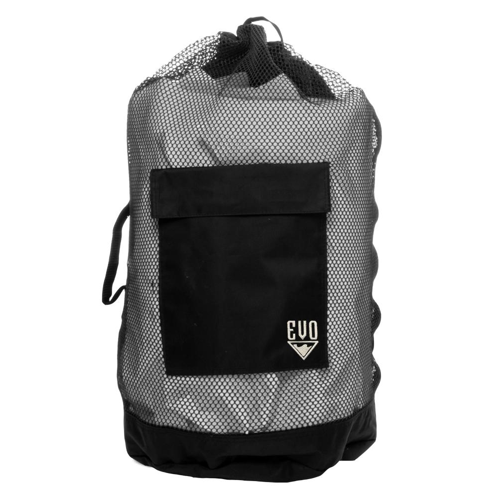 EVO Deluxe Mesh Backpack Dive Bag - Black