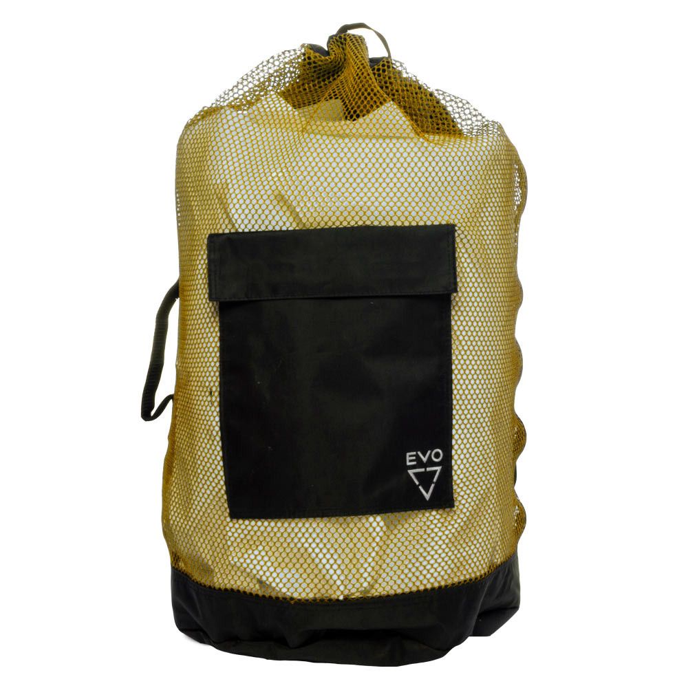 EVO Deluxe Mesh Backpack Dive Bag - Yellow