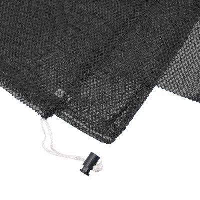 Armor Medium Mesh Drawstring Bag - Black
