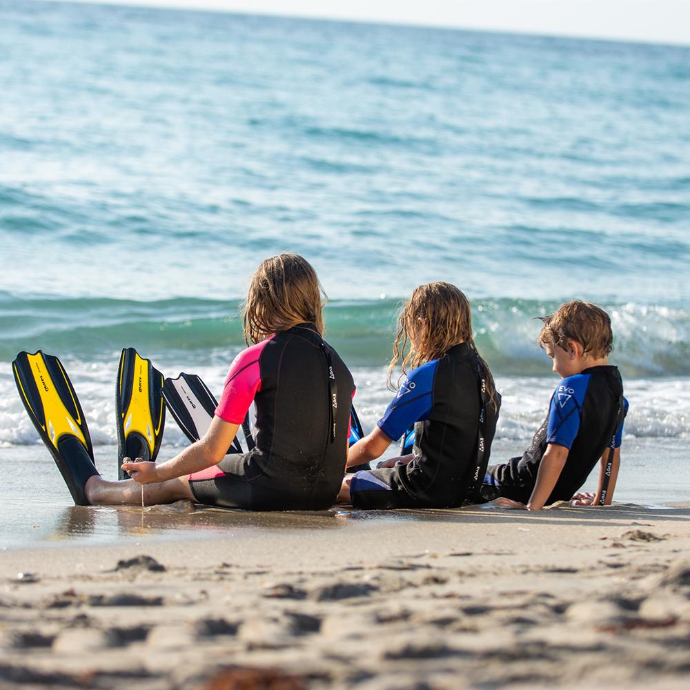 Mares Manta Full Foot Snorkeling Fins Kids