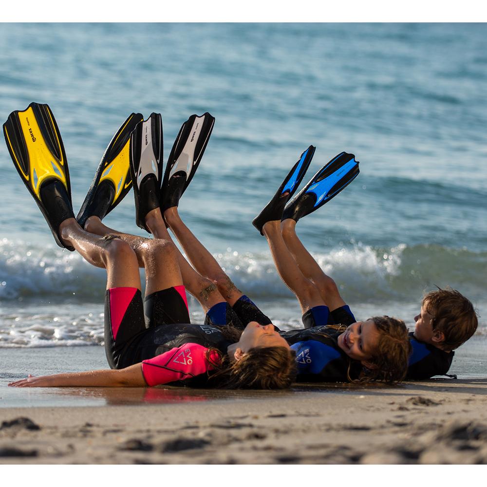 Mares Manta Full Foot Snorkeling Fins Kids Fins Up