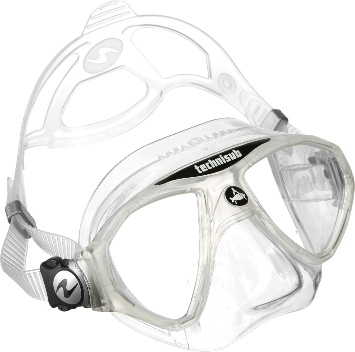 Aqua Lung Micromask, Two Lens - White