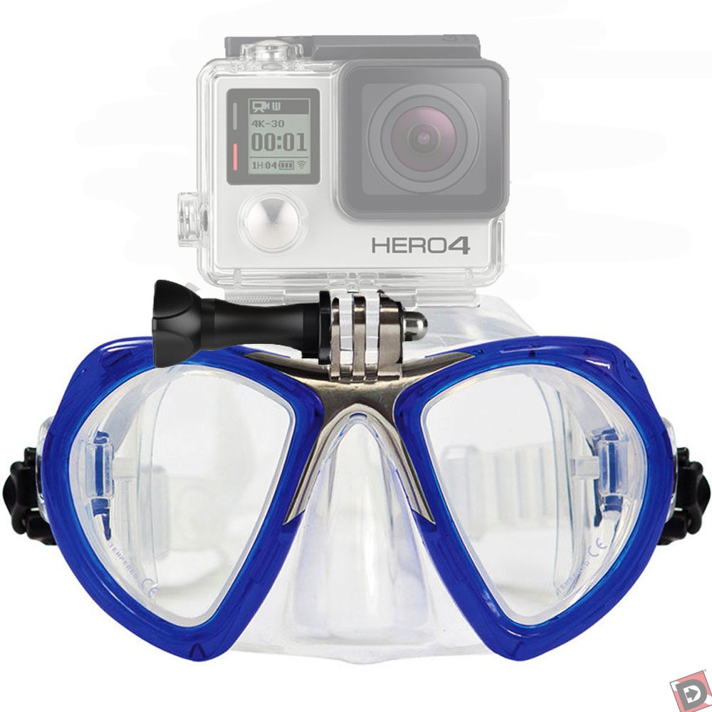 GoMask for GoPro, Two Lens - Blue. Camera NOT Included