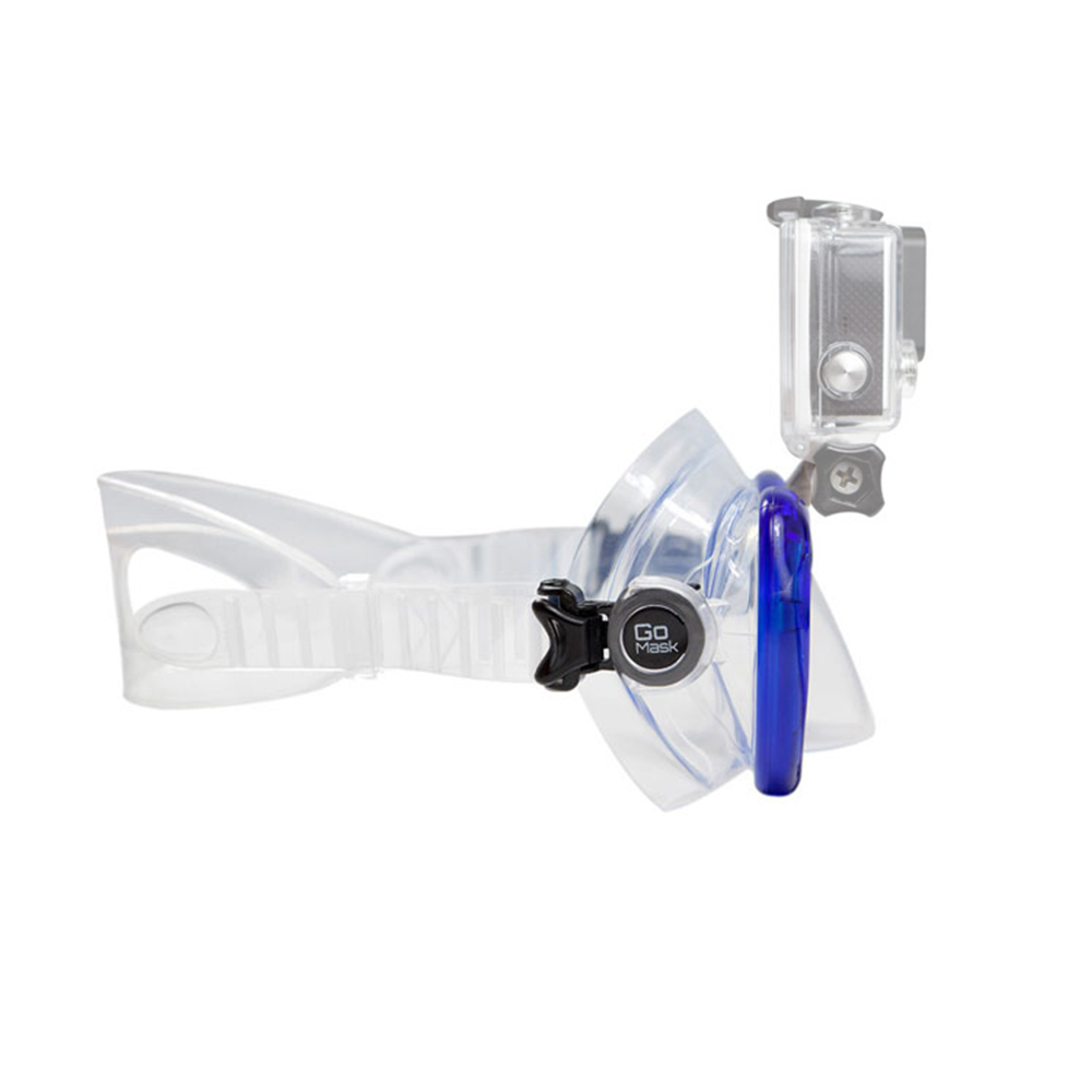 GoMask for GoPro, Two Lens Side View - Blue