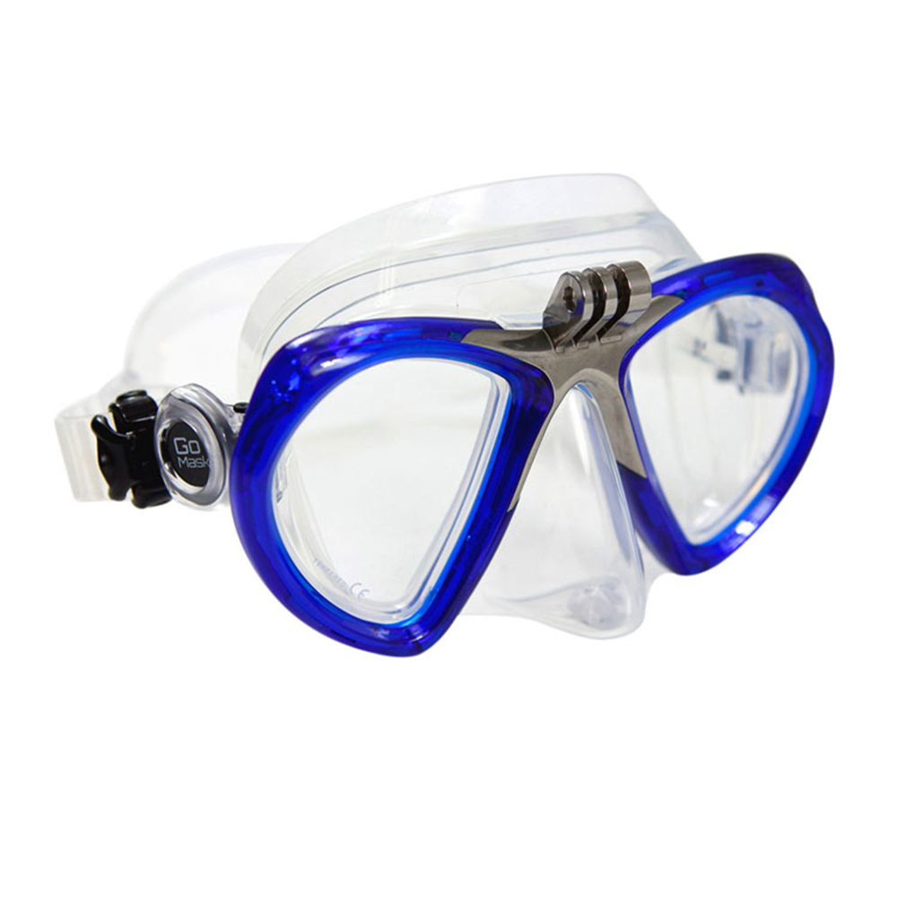 GoMask for GoPro, Two Lens ANgle View - Blue