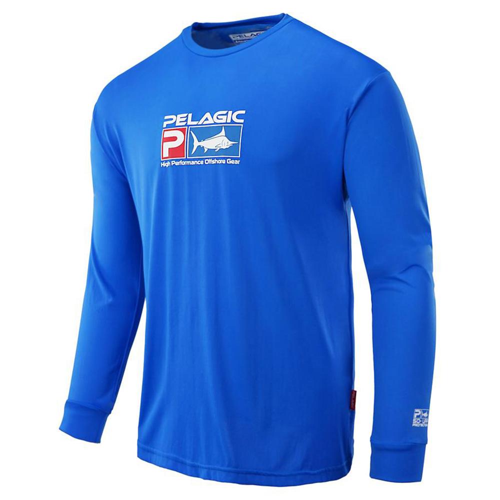 Pelagic Aquatek Long Sleeve Performance Fishing Shirt - Royal