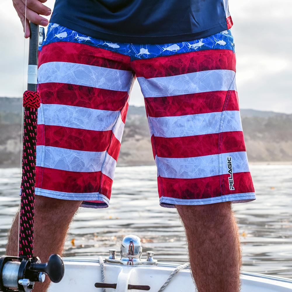 Pelagic Sharkskin Americamo Boardshorts Lifestyle