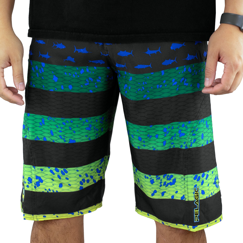 Pelagic Sharkskin Americamo Boardshorts Lifestyle - Green