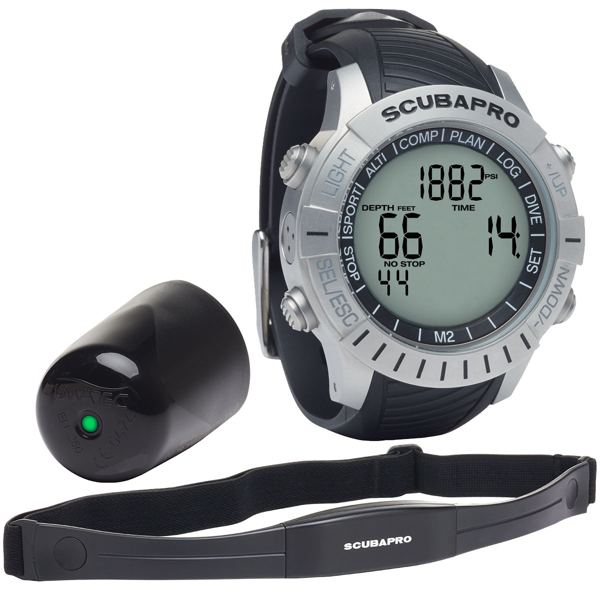 ScubaPro M2 Mantis 2.0 Triple-Gas Human-Factor Watch-Style Hoseless Air-Integrated Wrist Dive Computer