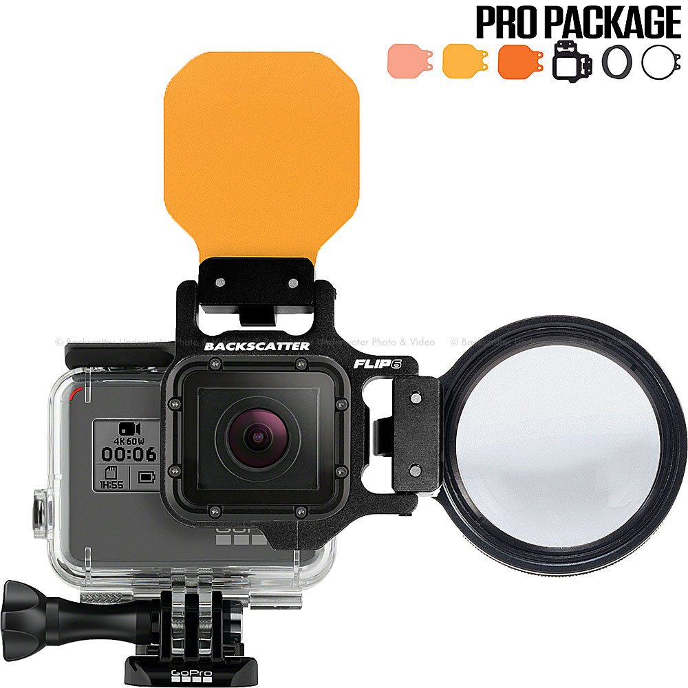 Backscatter Flip6 Pro Filters and +15 MacroMate Mini Lens Set for GoPro
