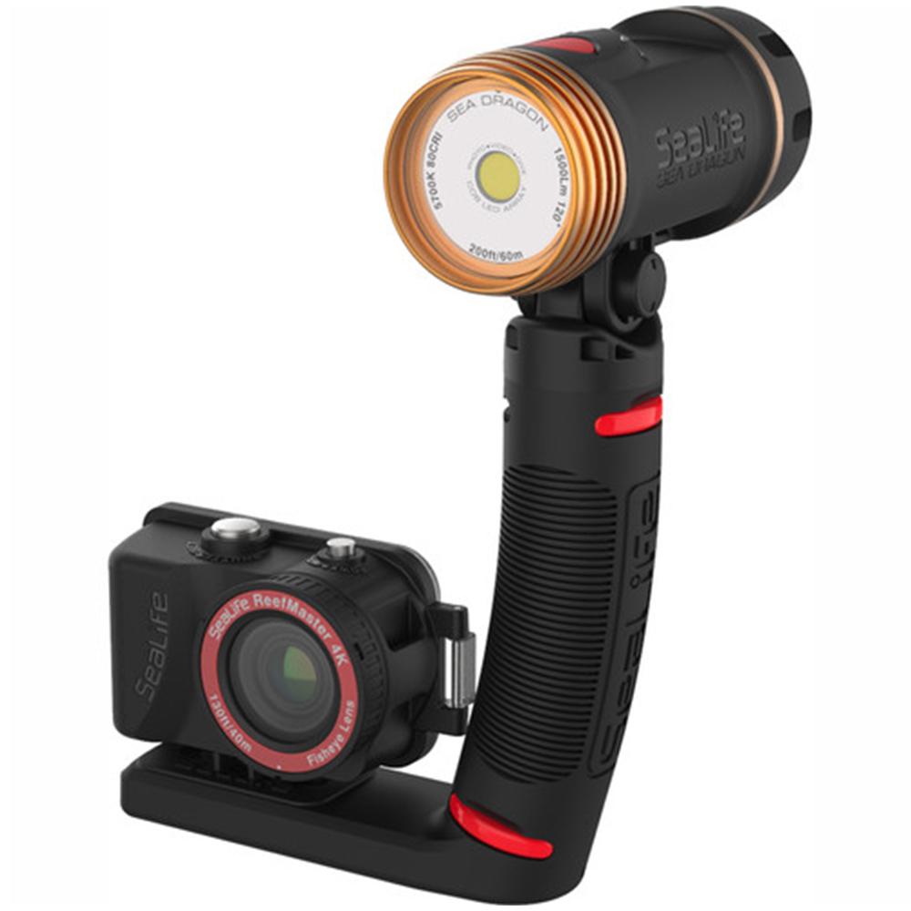SeaLife ReefMaster Pro 2000 Underwater Camera and Lighting Set Side Angle