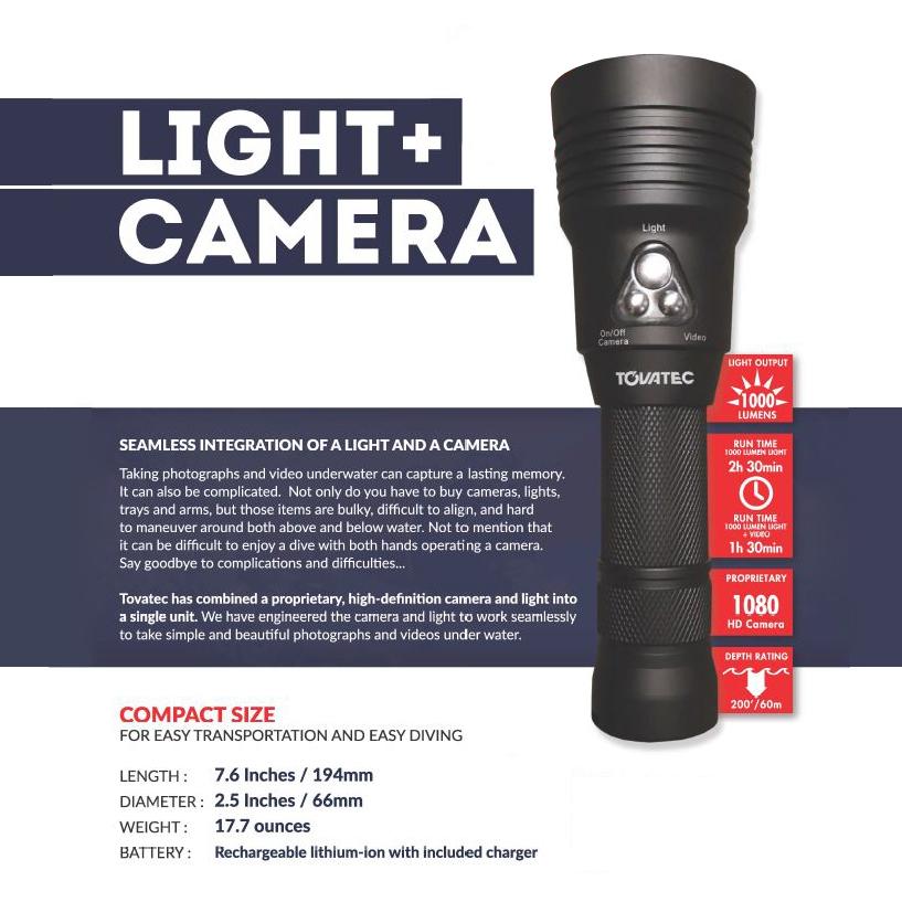 Tovatec MERA Integrated Light + Camera (1,000L)