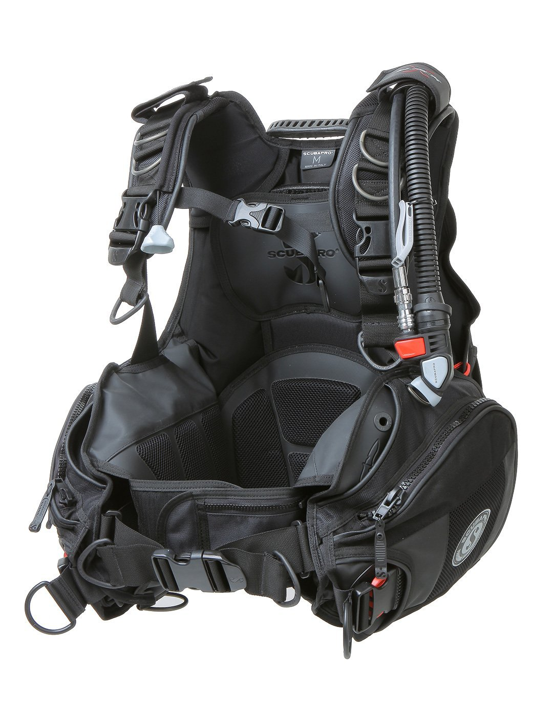 X-Black V Gen BCD with Air2 by ScubaPro, Black