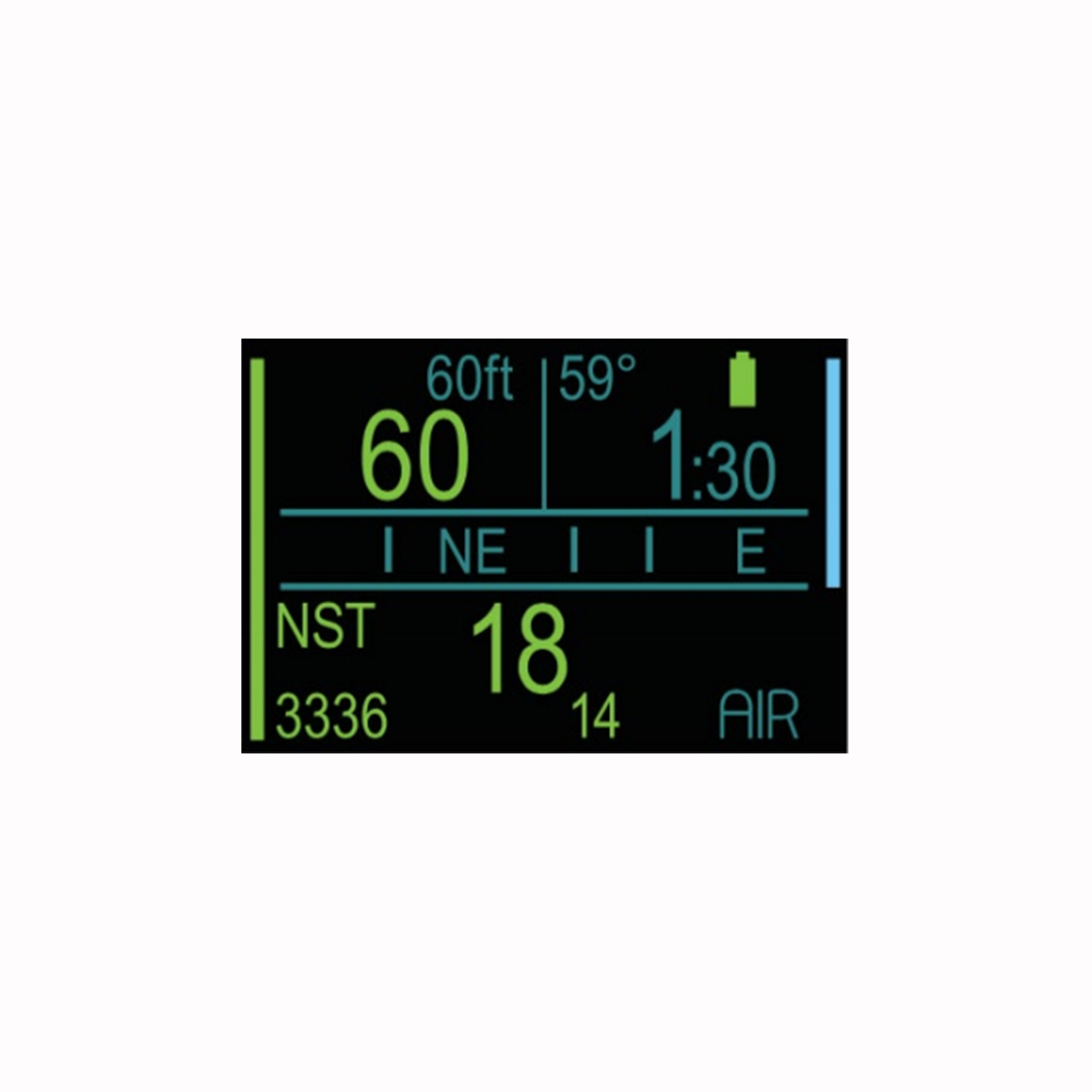 ScubaPro Galileo HUD (Heads-Up Display) and Transmitter Info Panel