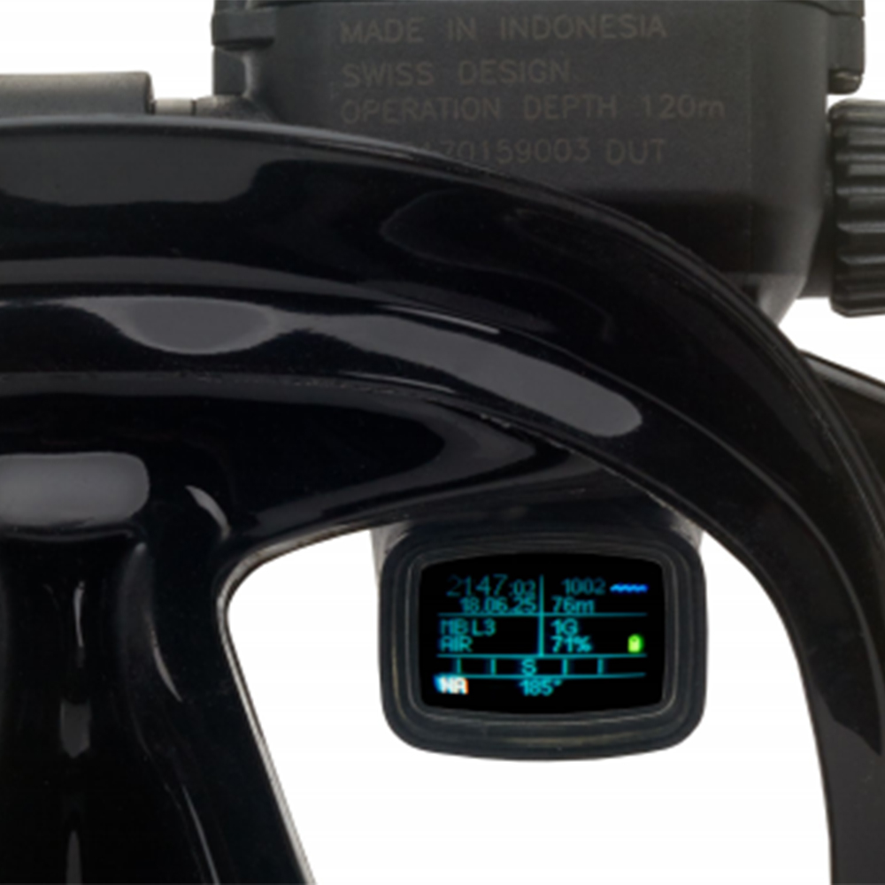 ScubaPro Galileo HUD (Heads-Up Display) and Transmitter Diver's View