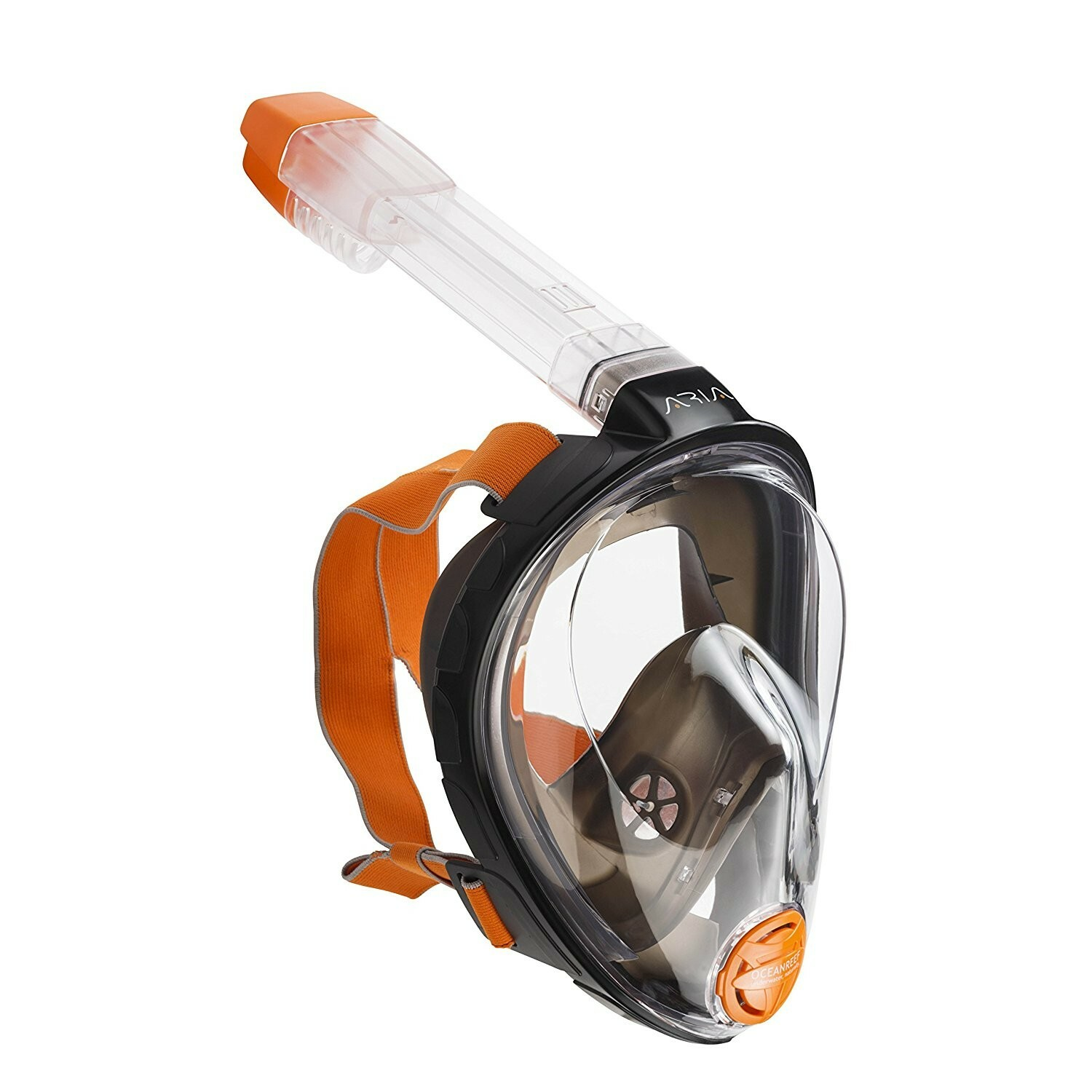 Ocean Reef Aria QR+ Full Face Snorkel Mask with Camera Holder Side View - Black