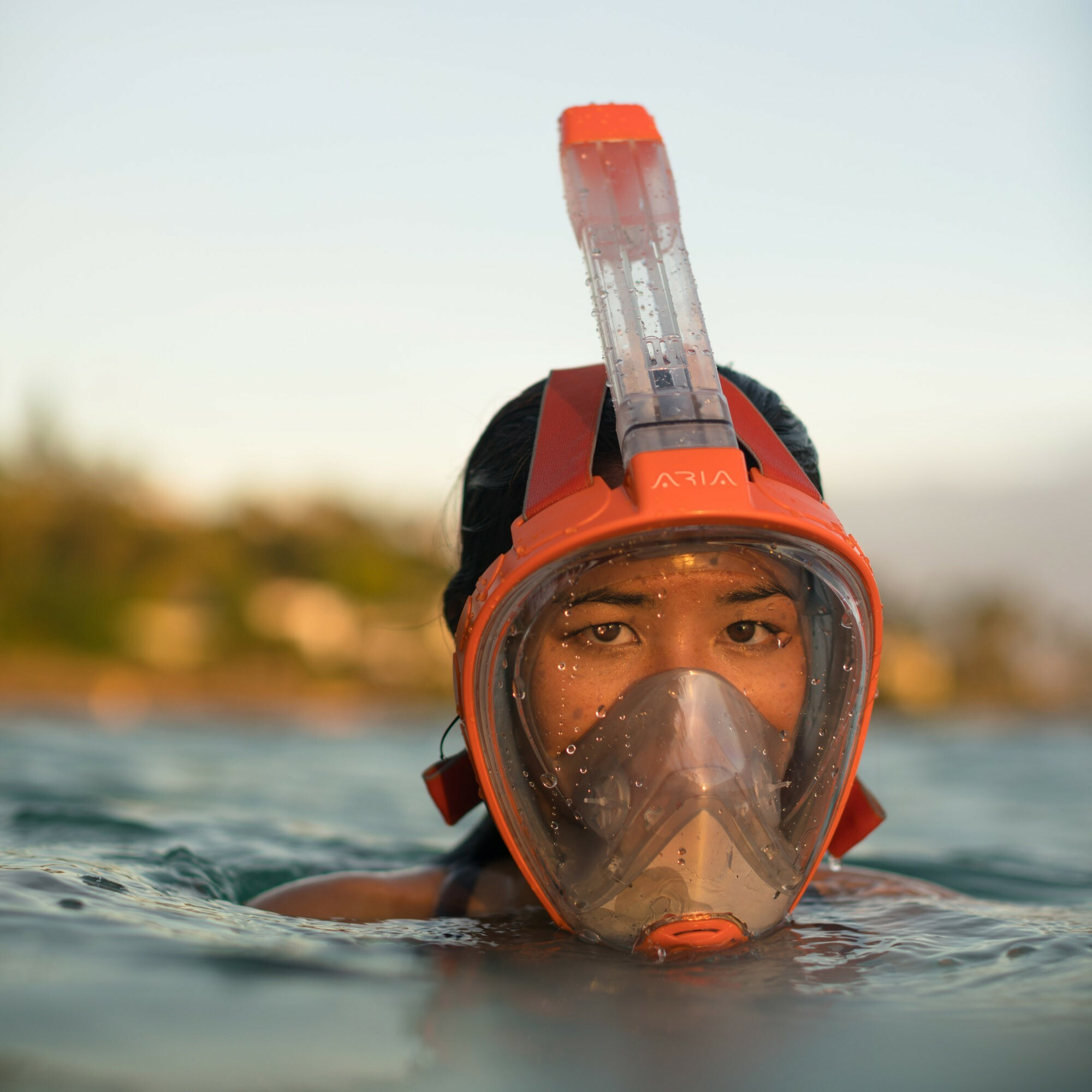 Ocean Reef Aria QR+ Full Face Snorkel Mask with Camera Holder Lifestyle