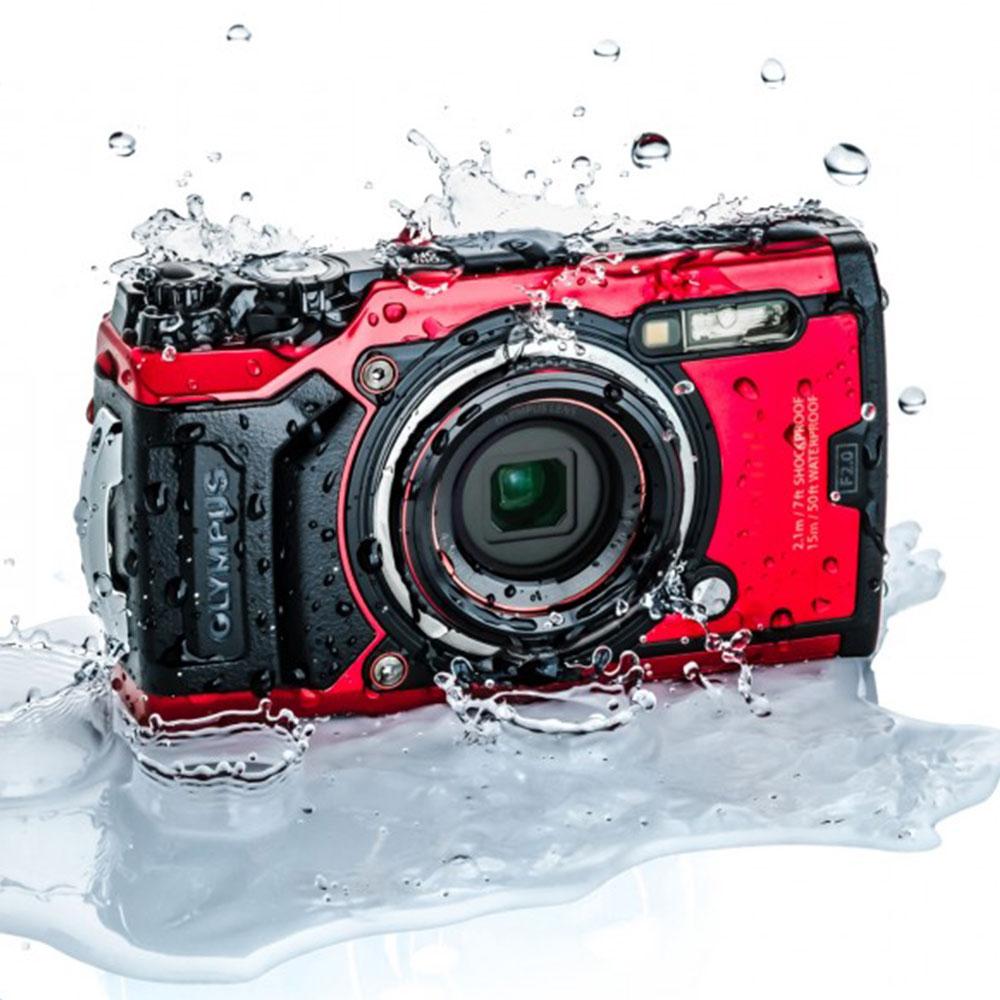 Olympus Tough TG-6 12 MP Waterproof Dive Camera red