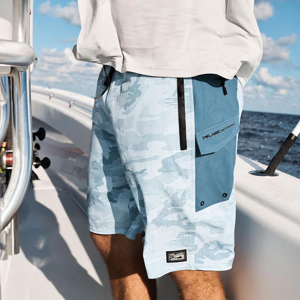 Pelagic Ocean Master Fishing Shorts - Aqua