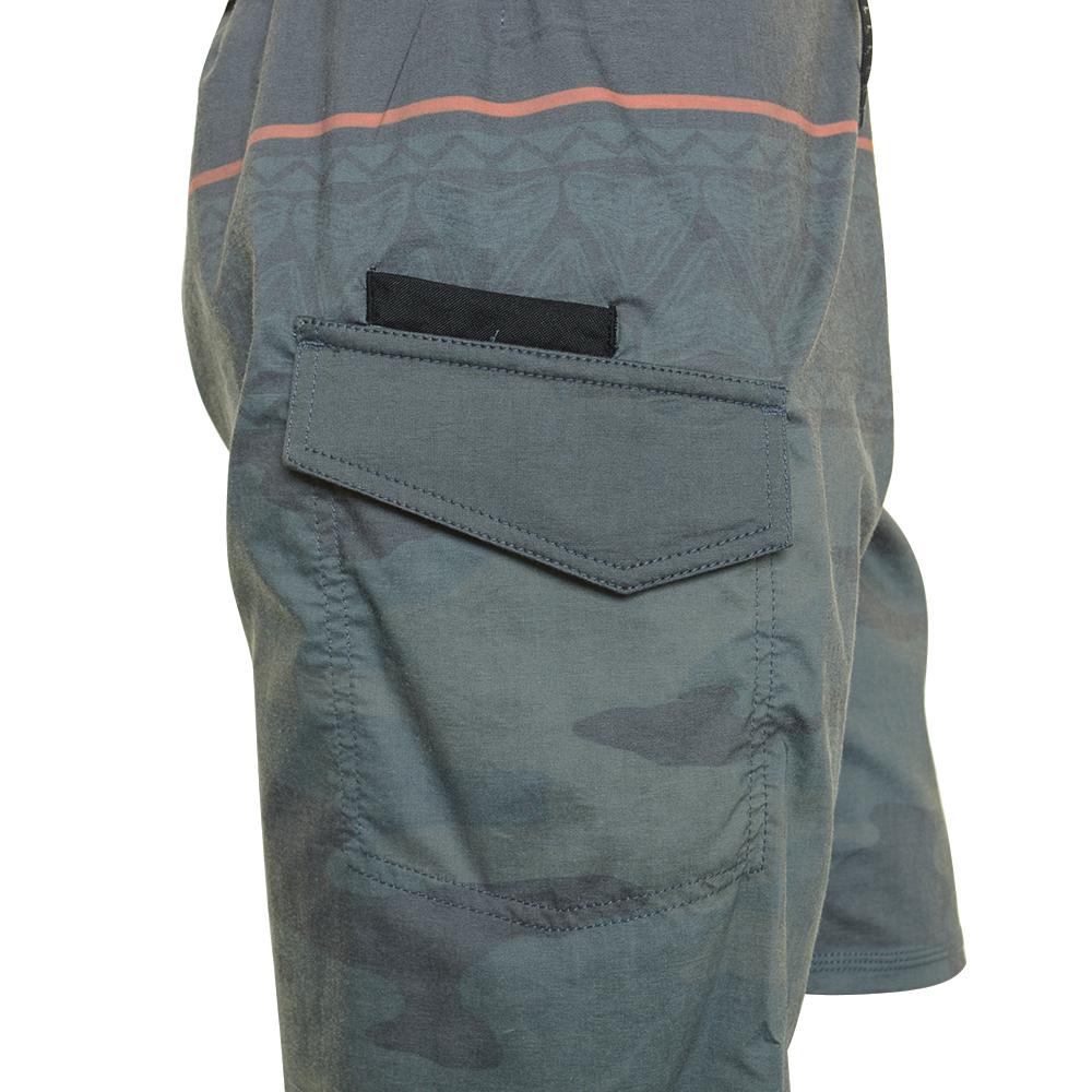 EVO Troop Boardshorts (Men's) Right Side Detail - Green