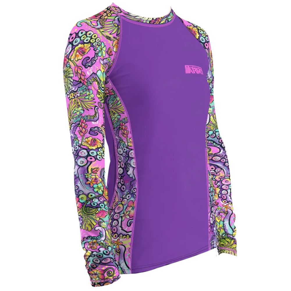 Spacefish Army Long Sleeve Rashguard Right Side - Octofloral