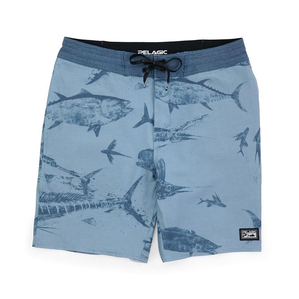 Pelagic Gyotaku Deep Drop Fishing Shorts (Men's) - Slate