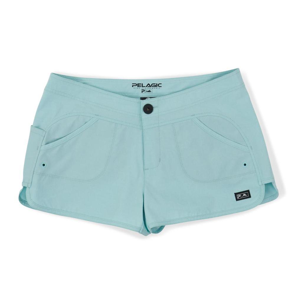 Pelagic Deep Sea Hybrid Shorts Gyotaku (Women's) - Turquoise