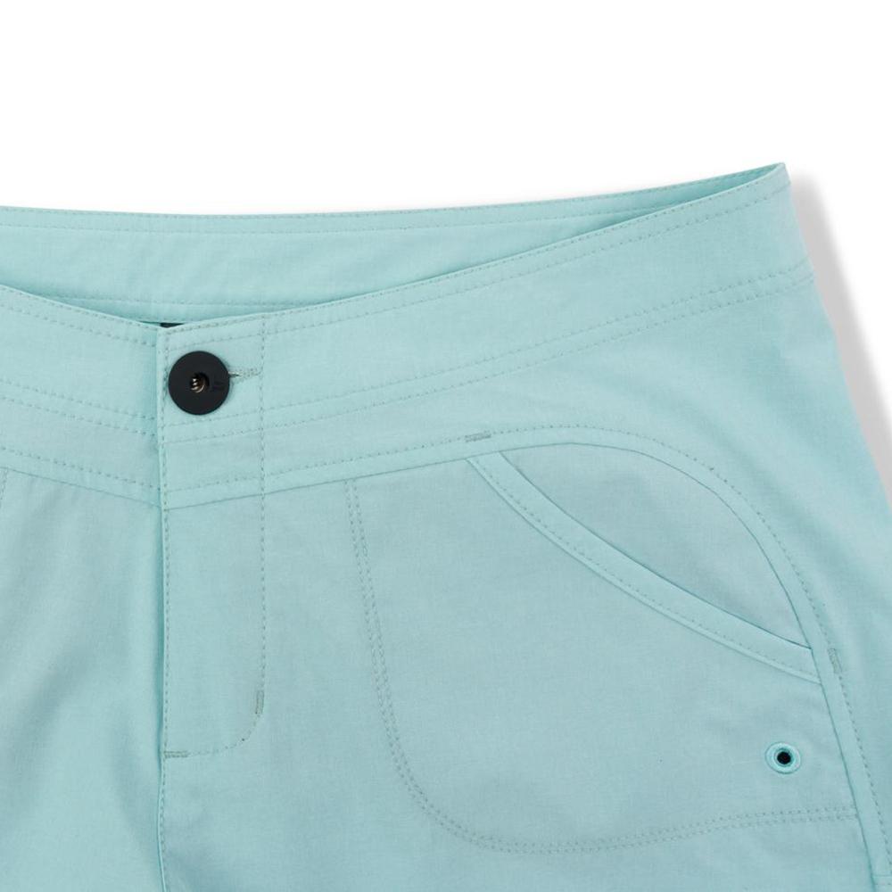 Pelagic Deep Sea Hybrid Shorts Gyotaku (Women's) Front Detail - Turquoise