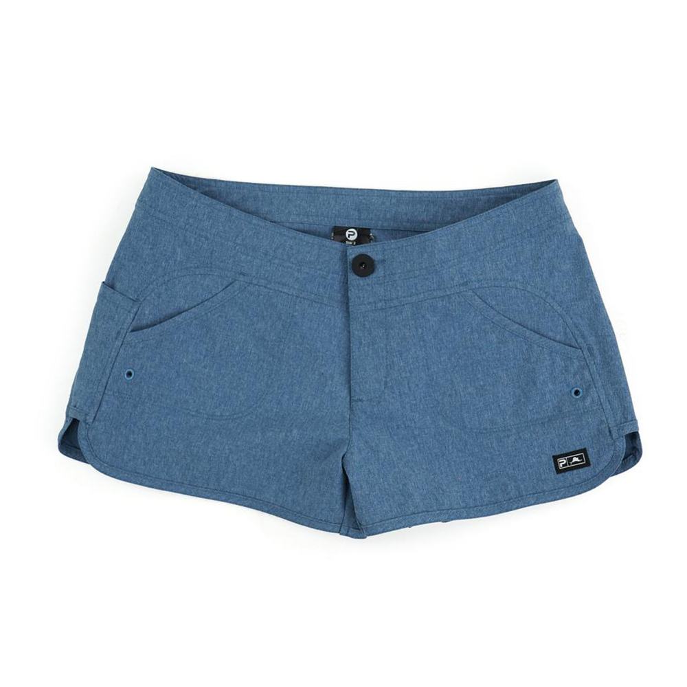 Pelagic Deep Sea Hybrid Shorts Gyotaku (Women's) - Smokey Blue