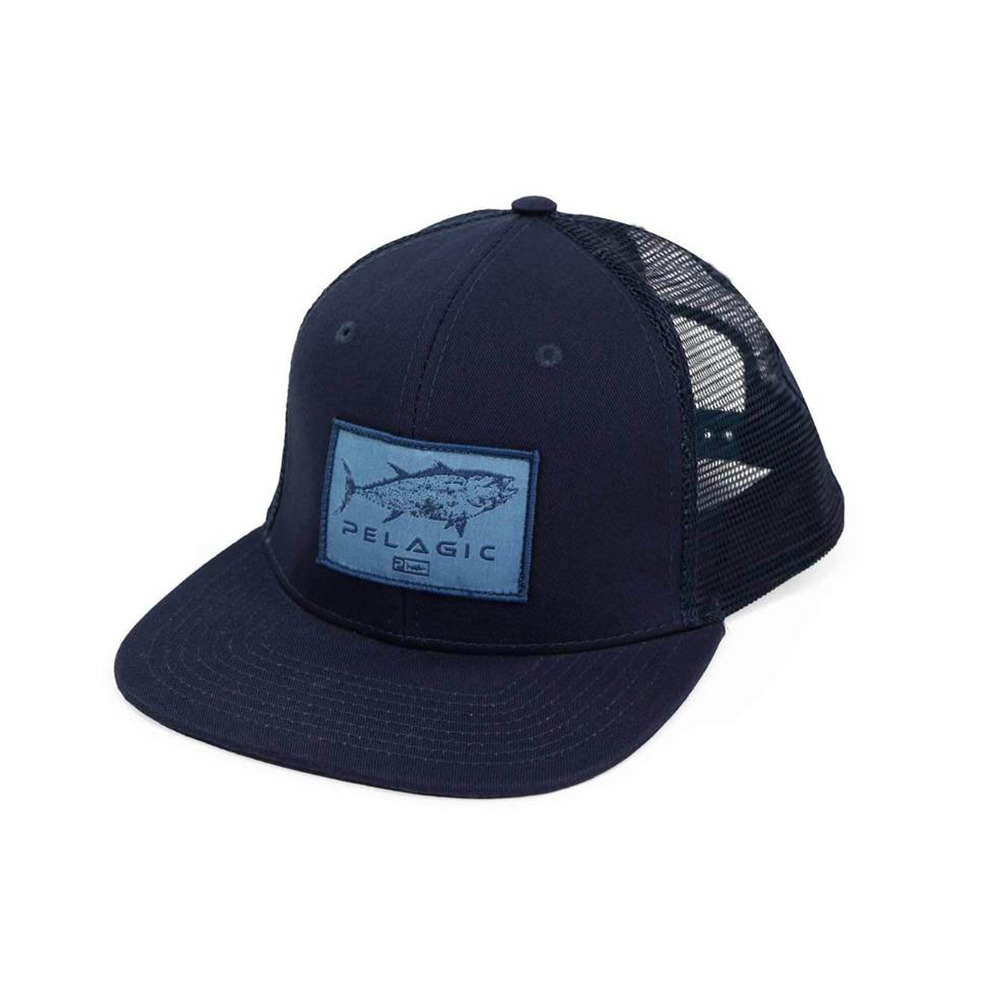 Pelagic Gyotaku Snapback Hat - Navy