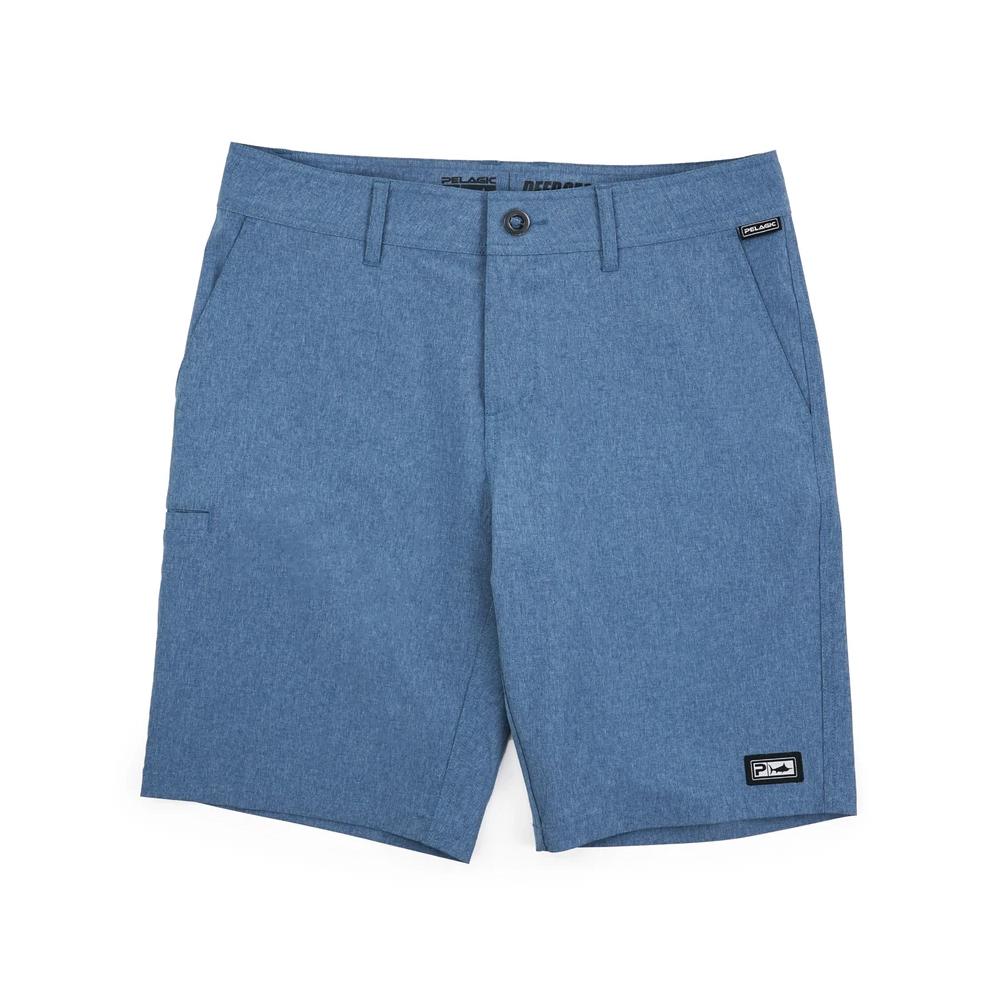 Pelagic Deep Sea Hybrid Shorts Gyotaku (Youth) - Smokey Blue