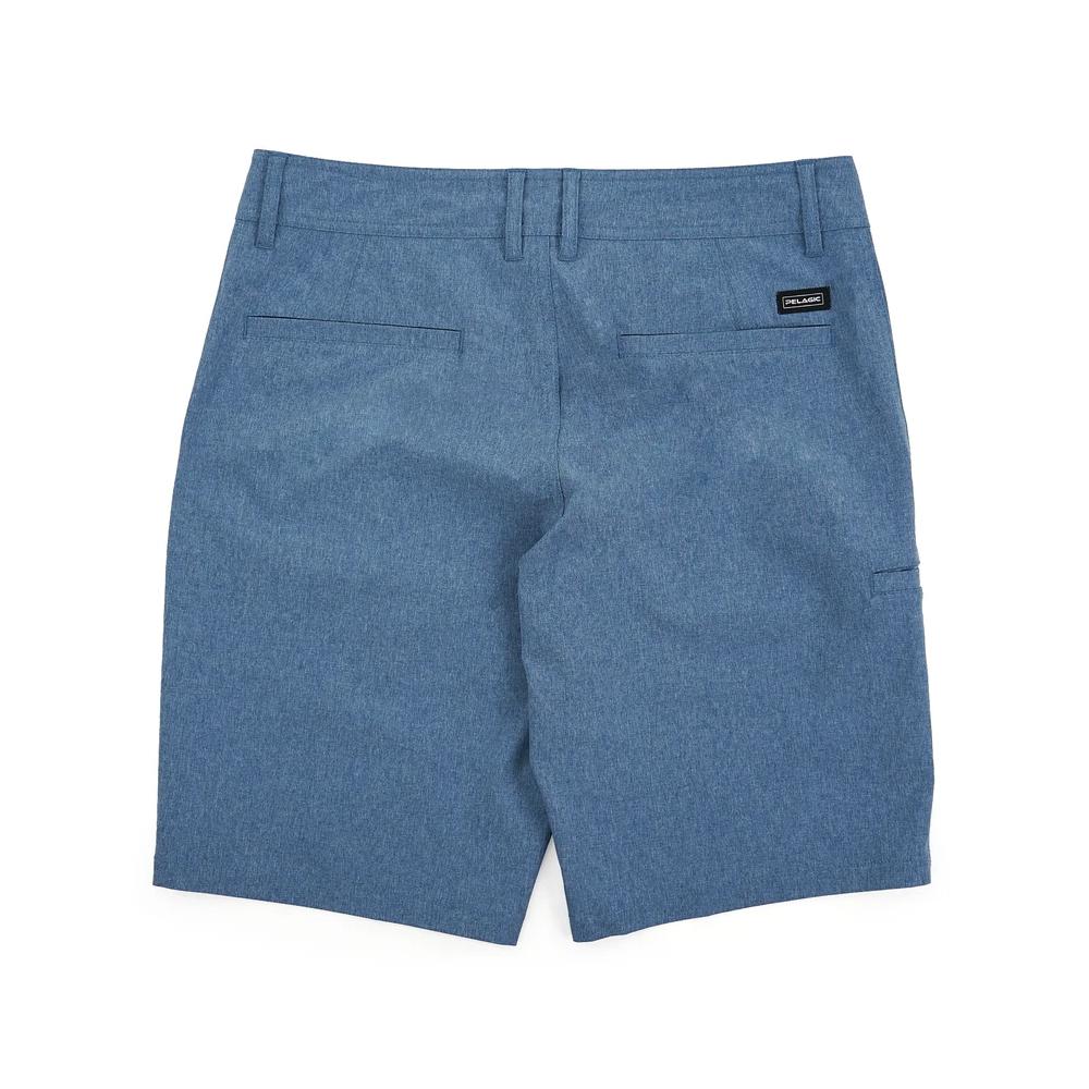 Pelagic Deep Sea Hybrid Shorts Gyotaku (Youth) Back - Smokey Blue