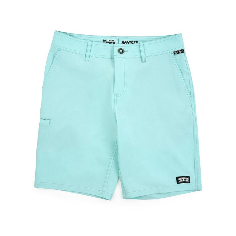 Pelagic Deep Sea Hybrid Shorts Gyotaku (Youth) - Turquoise