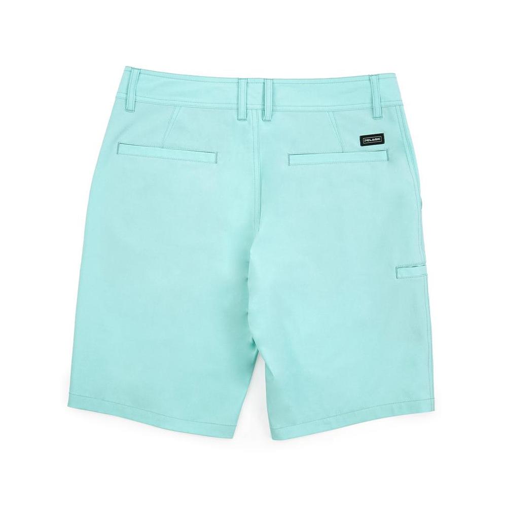 Pelagic Deep Sea Hybrid Shorts Gyotaku (Youth) Back - Turquoise