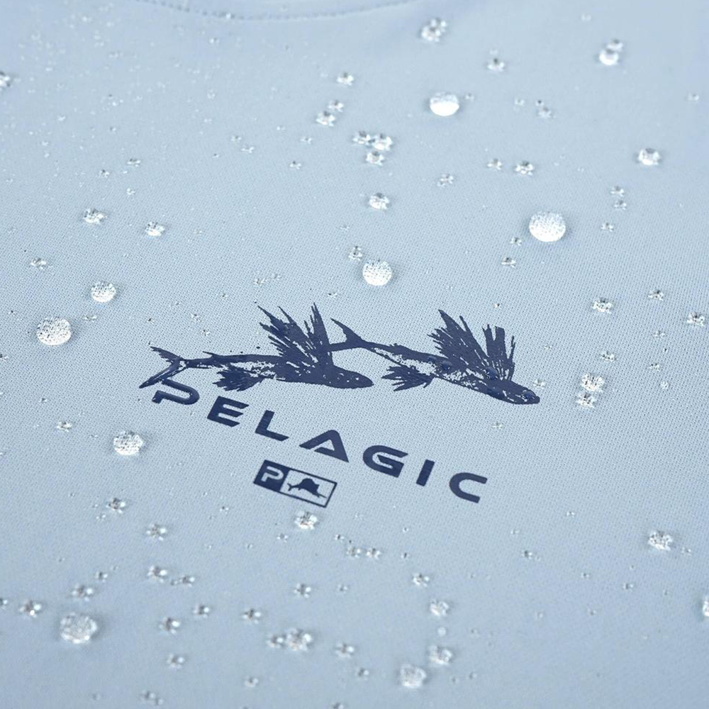 Pelagic Ultratek Hoody Gyotaku (Women's) Wet - Smokey Blue