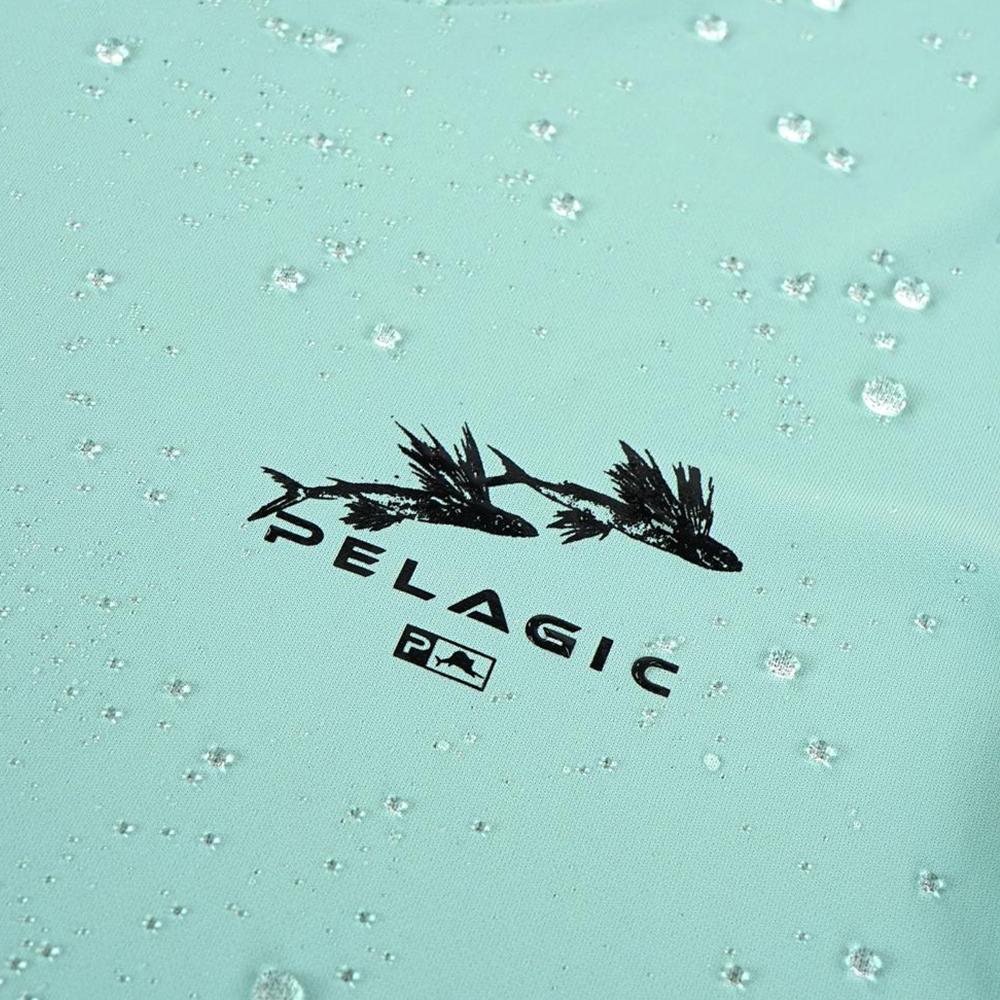 Pelagic Ultratek Hoody Gyotaku (Women's) Wet - Turquoise
