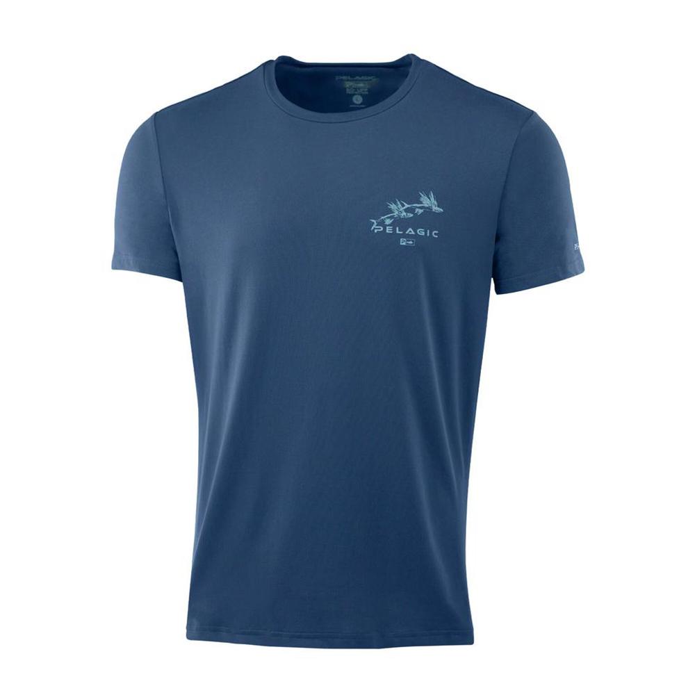 Pelagic Premium UV Gyotaku T-Shirt Front - Smokey Blue