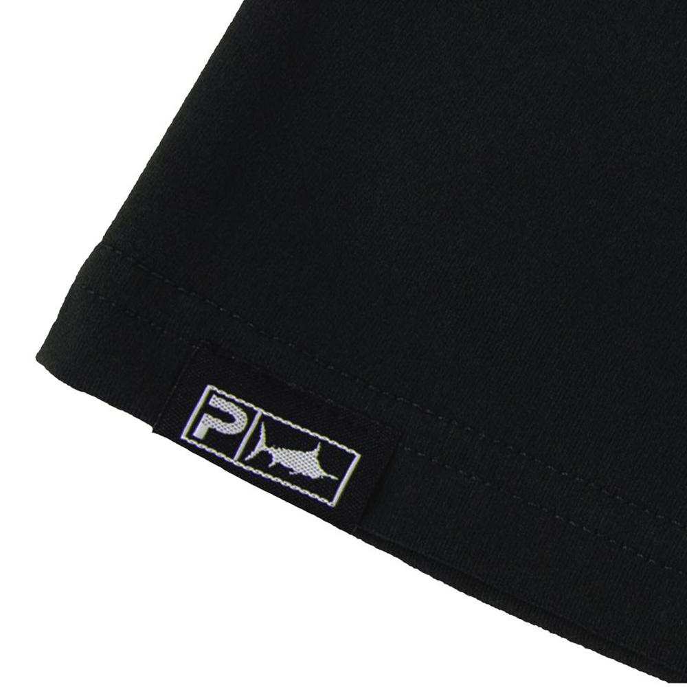 Pelagic Premium UV Gyotaku T-Shirt Hem Detail - Black