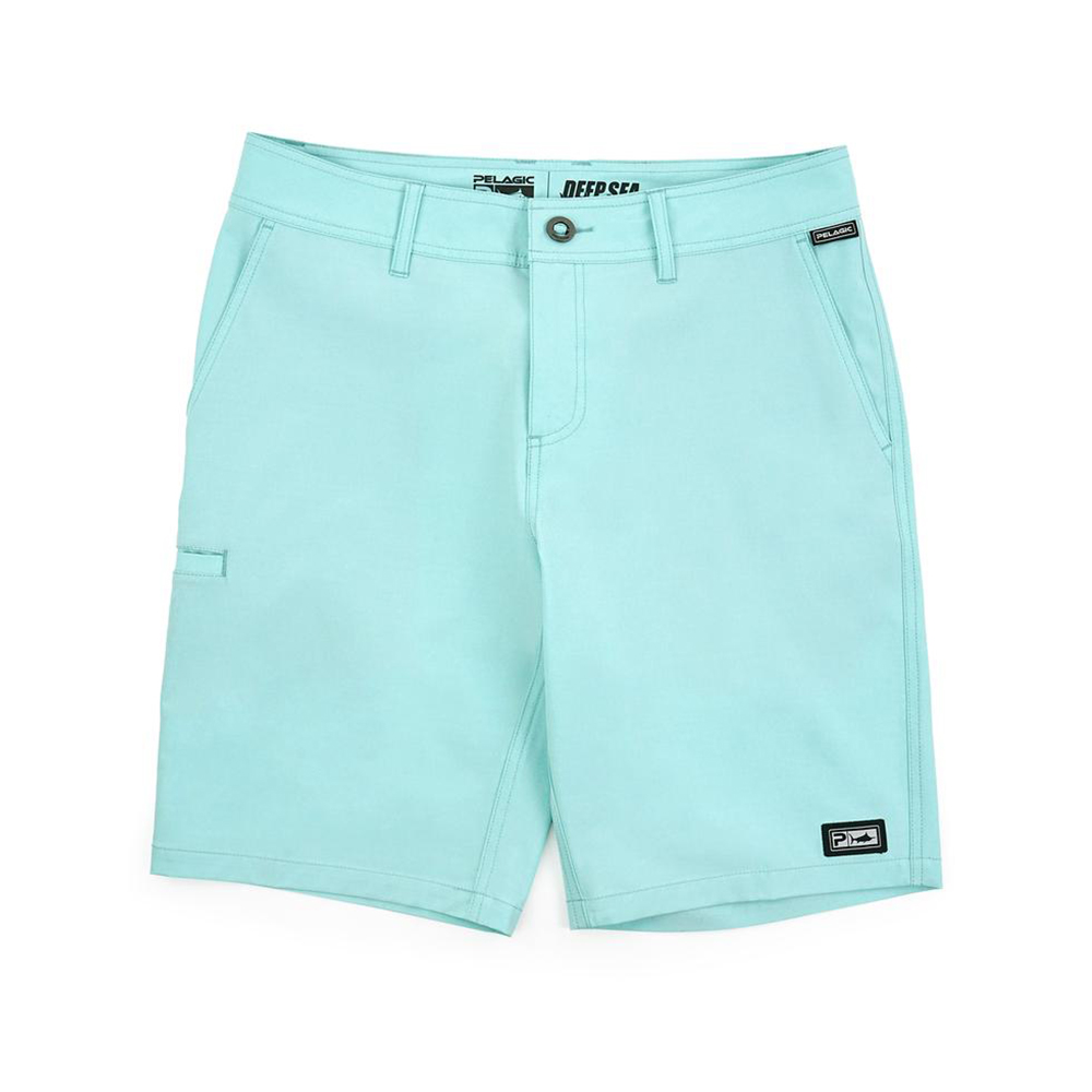 Pelagic Gyotaku Deep Sea Hybrid Fishing Shorts (Men's) - Turquoise