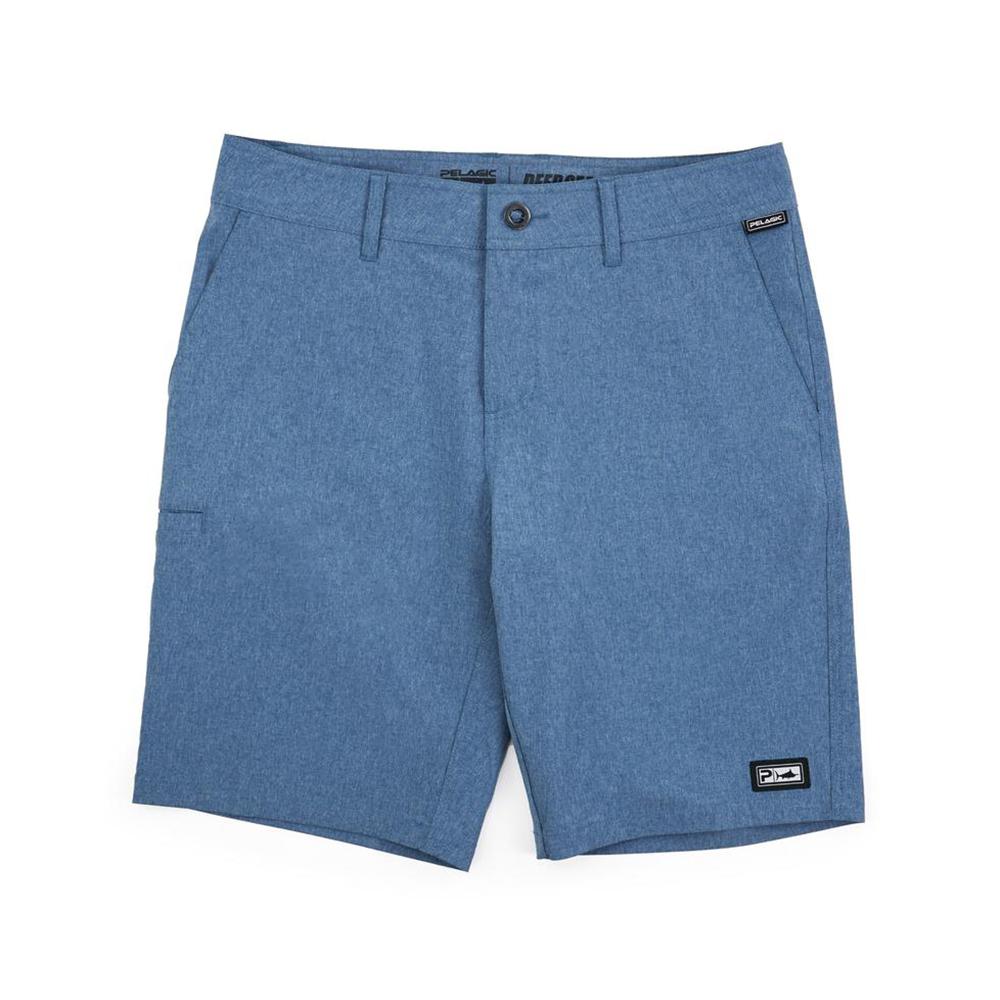 Pelagic Gyotaku Deep Sea Hybrid Fishing Shorts (Men's) - Smokey Blue