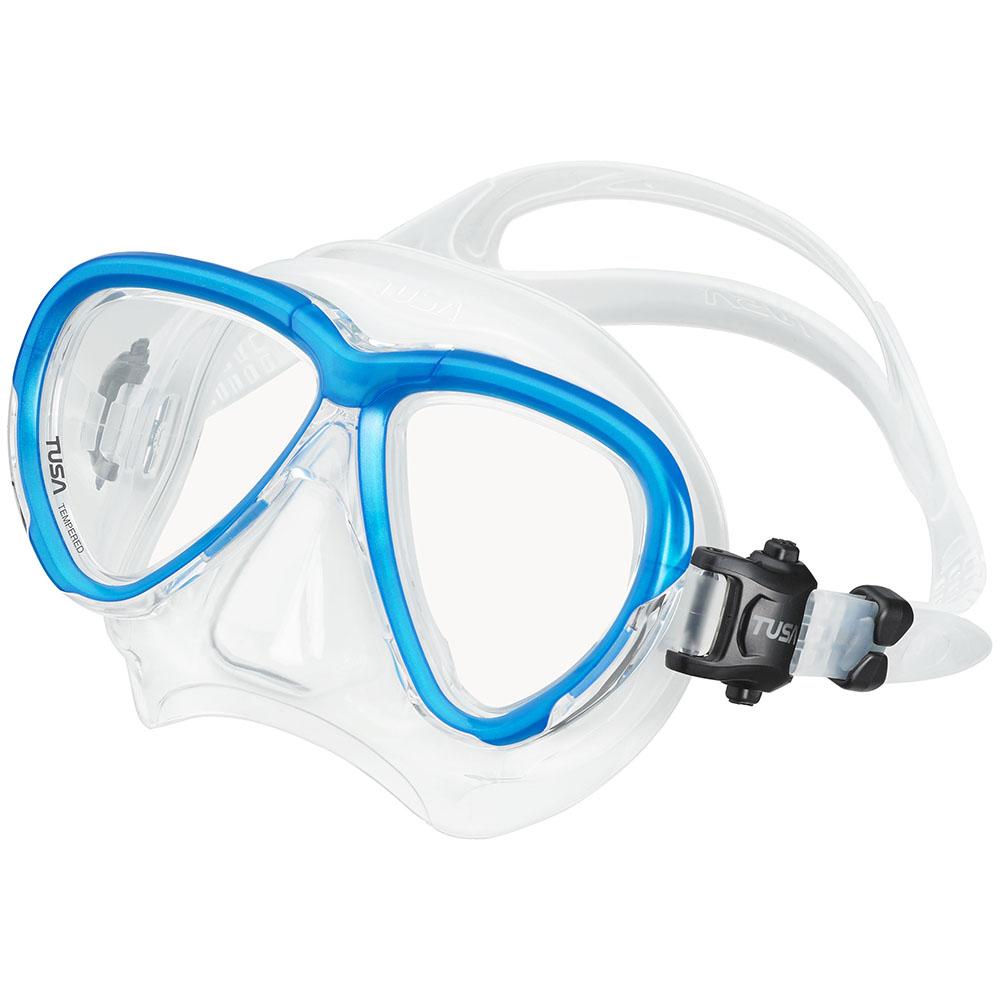 TUSA Intega Mask, Two Lens - Fishtail Blue