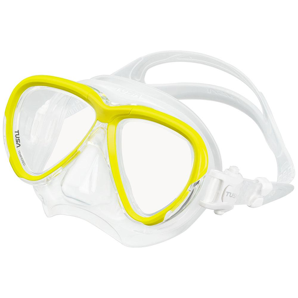 TUSA Intega Mask, Two Lens - Flash Yellow