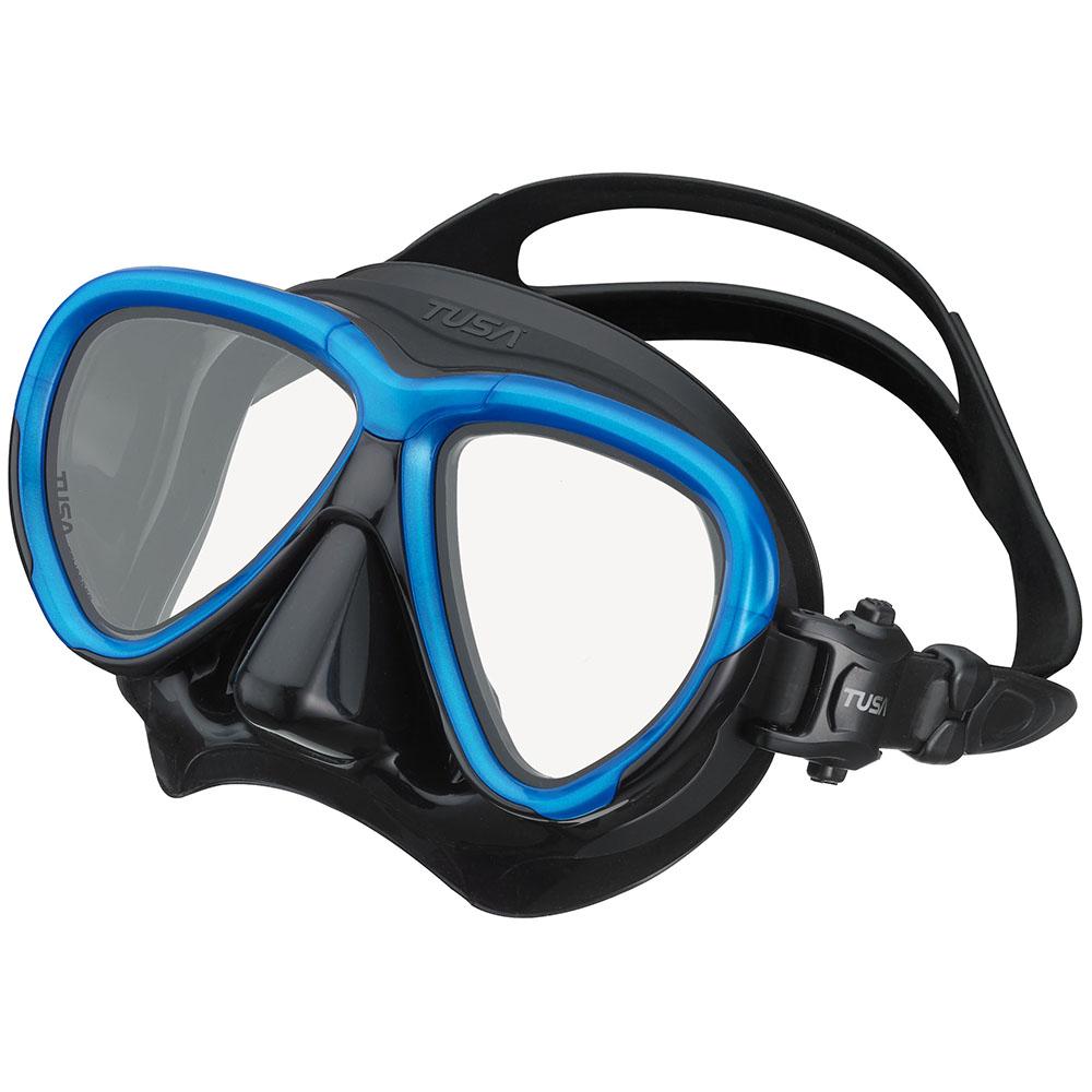 TUSA Intega Mask, Two Lens - Fishtail Blue/Black