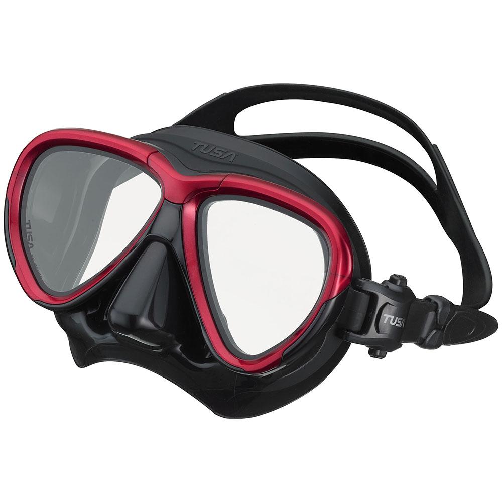 TUSA Intega Mask, Two Lens - Metallic Dark Red/Black