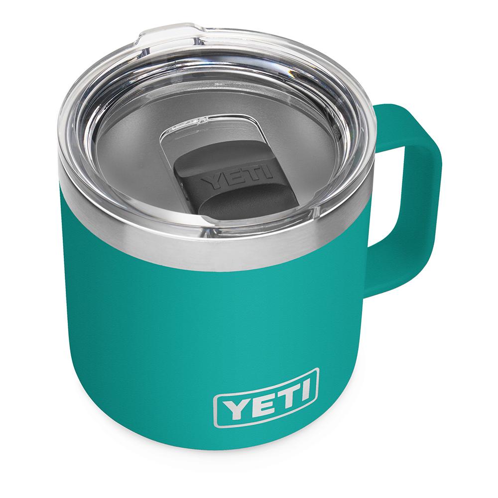 YETI Rambler 14 oz Mug with Magslider Lid - Aquifer Blue