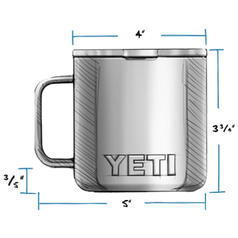 YETI Rambler 14 oz Mug with Magslider Lid Dimensions