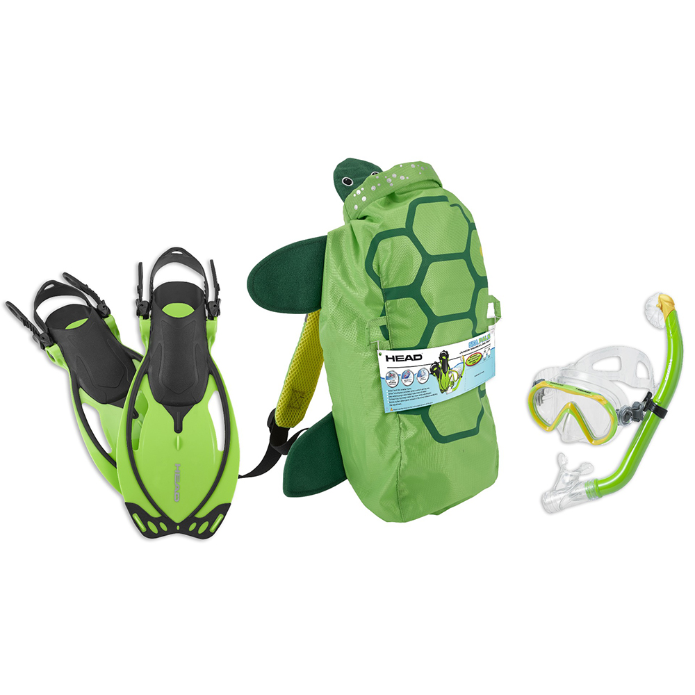 HEAD Sea Pals Jr Dry Snorkel Set - Turtle