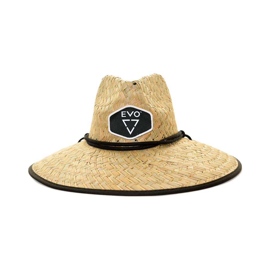 EVO Straw Lifeguard Hat (Men's) Front - Black