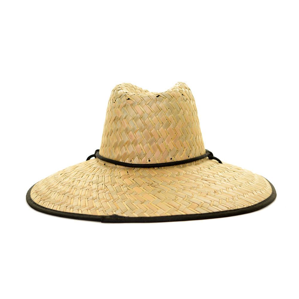 EVO Straw Lifeguard Hat (Men's) Back - Black