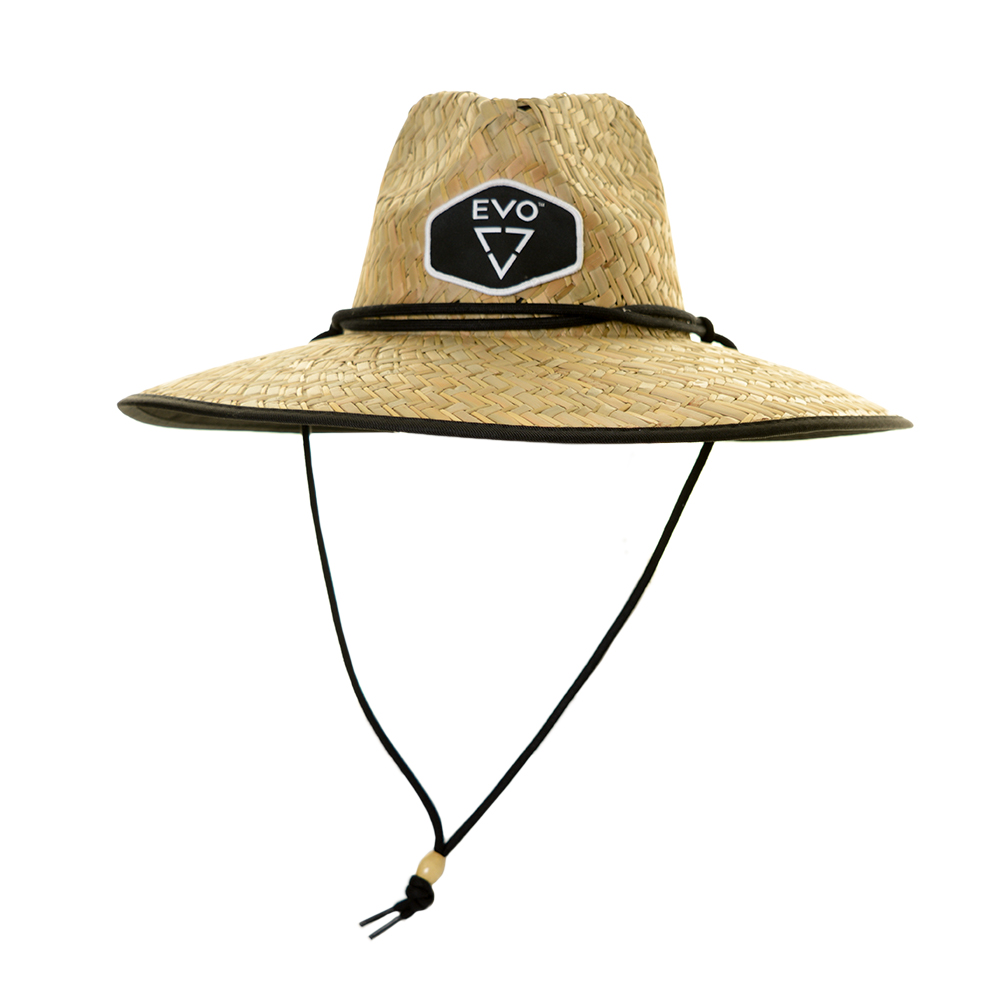 EVO Straw Lifeguard Hat (Men's) Full - Black